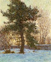 arbres sous la neige by emile ancelet