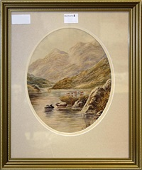 scottish views (pair) by albert edward ash