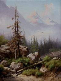 paesaggio montano by guido agostini