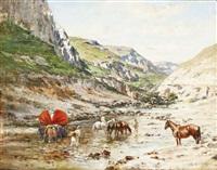 passage au gué by victor pierre huguet