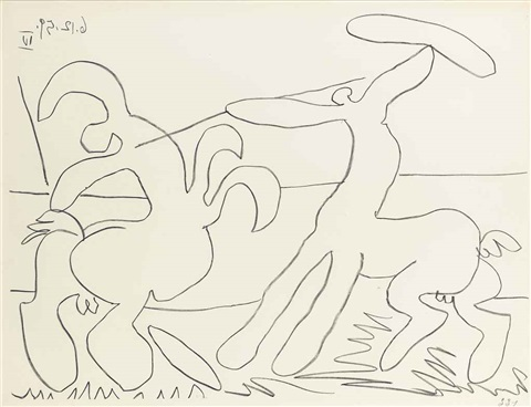 combat des centaures iii iv 2 works by pablo picasso