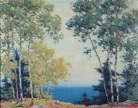 poplars by the lake by carl wendell rawson