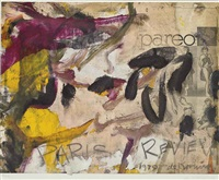 poster for paris review by willem de kooning