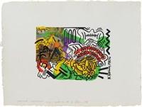 sportswear international cover by keith haring