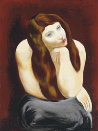 jeune fille assise by moïse kisling