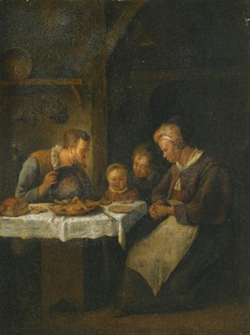 grace before a meal by jan steen
