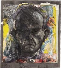 looking in the dark #16 by jim dine