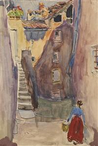 rue de village (double-sided) by maria-mela muter