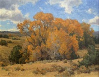 autumn tree - fiddle creek by clyde aspevig