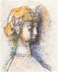 portrait of luba by aleksandr grigor'evich tyshler