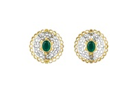 a pair of earclips by buccellati
