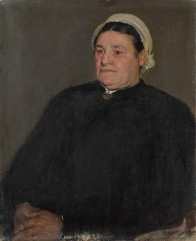 portrait d'homme et de femme (2 works) by richard edward miller