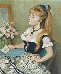 claudine, (l'envoi de fleurs) by marcel dyf