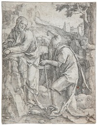temptation of christ by lucas van leyden