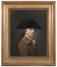 portrait d'homme au chapeau by louis aubert