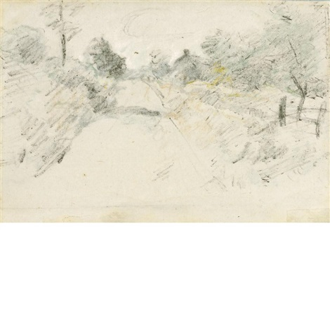 road scene by john henry twachtman