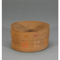 woven basket by isabella edenshaw