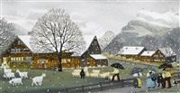 schneegestöber by albert manser