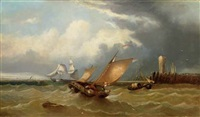shipping off a jetty by j.w. webb