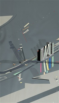 triptych with bridges by rem koolhaas