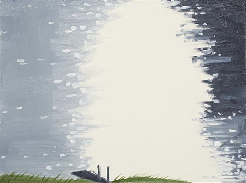 untitled study for lake light by alex katz