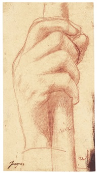 study for the right hand of jupiter by jean-auguste-dominique ingres