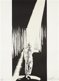 untitled (man in the spotlight) by robert longo