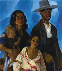 portrait of a mexican family by martha walter
