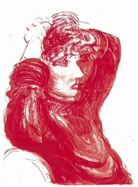 red celia, from moving focus by david hockney