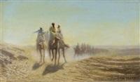 caravane dans le désert by charles théodore (frère bey) frère