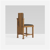 chair from the avery coonley playhouse, riverside, illinois by frank lloyd wright