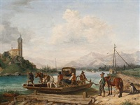 the ferry crossing by anton altmann the younger