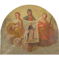 madonna con due sante che presenta stendardo raffigurante s. antonio by anonymous (18)