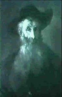 brustportrat eines herrn mit hut by august philipp henneberger