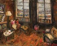 woman in a room by yitzhak frenkel-frenel