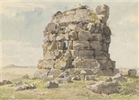 a roman tomb on the via appia near bovillae by carlo labruzzi