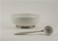 complete punchbowl set by paul schreckengost