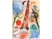 lithographe i-iv (4 volumes w/20 works) by marc chagall