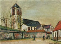 eglise de miraumont (somme) by maurice utrillo