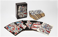 banque de l'hourloupe (set of 52) by jean dubuffet