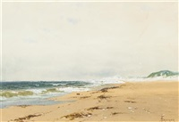 cloud shadows, southhampton by alfred thompson bricher