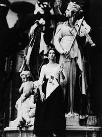 mary at opera, paris (vogue) by william klein