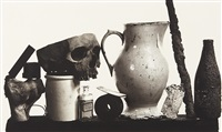 composition with pitcher and eau de cologne, new york, 7 december by irving penn