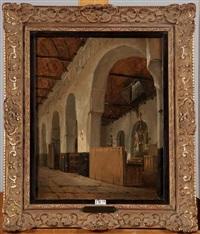 intérieur d'église by johannes bosboom