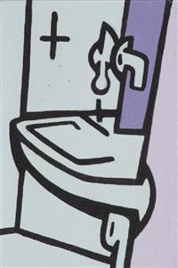 il lavabo by valerio adami