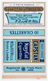 fag packets (capstan, star, ardath and gold flake) (set of 4) by peter blake