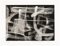 black and white, pl.1 (+ 3 others; 4 works) by louise fishman
