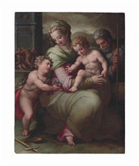 the holy family with the young saint john the baptist by giovanni battista di matteo naldini
