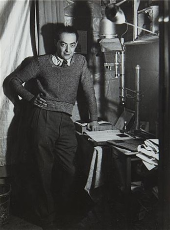 self portrait standing in the dark room by brassaï