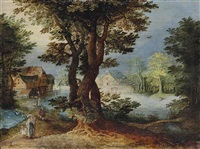 paysage au chêne by alexander keirincx